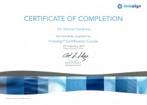 Certificate od Completion «Invisalign Certification Course»