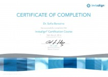Certificate of Completion «Invisalign Certification Course»